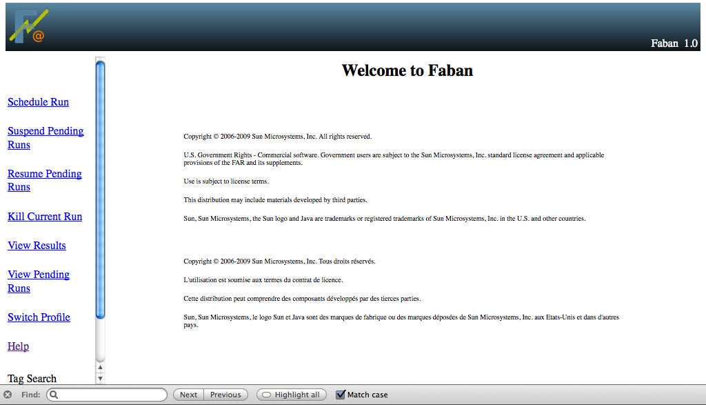 Faban Screen-shot